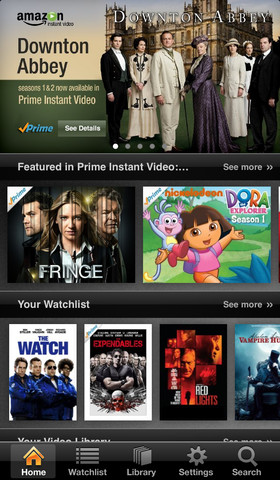 Amazon Instant Video on iOS